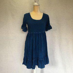 Exist Chambray Rayon Short Sleeve Dress